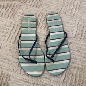 Splendid leather upper flip flops Size 9